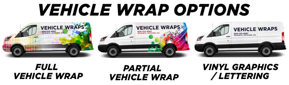 Chula Vista Vehicle Wraps vehicle wrap options